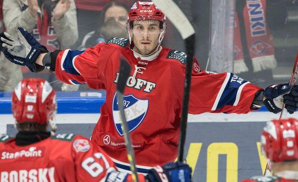 Yohann Auvitu toi HIFK:n kahden maalin päähän.