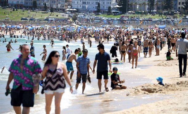 Australiassa on nyt todella kuuma kesä. Kuva Bondi Beachilta Sydneysta.