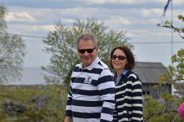 Sauli Niinistö ja rouva Jenni Haukio vierailivat Tankarin majakkasaarella viime kesänä.