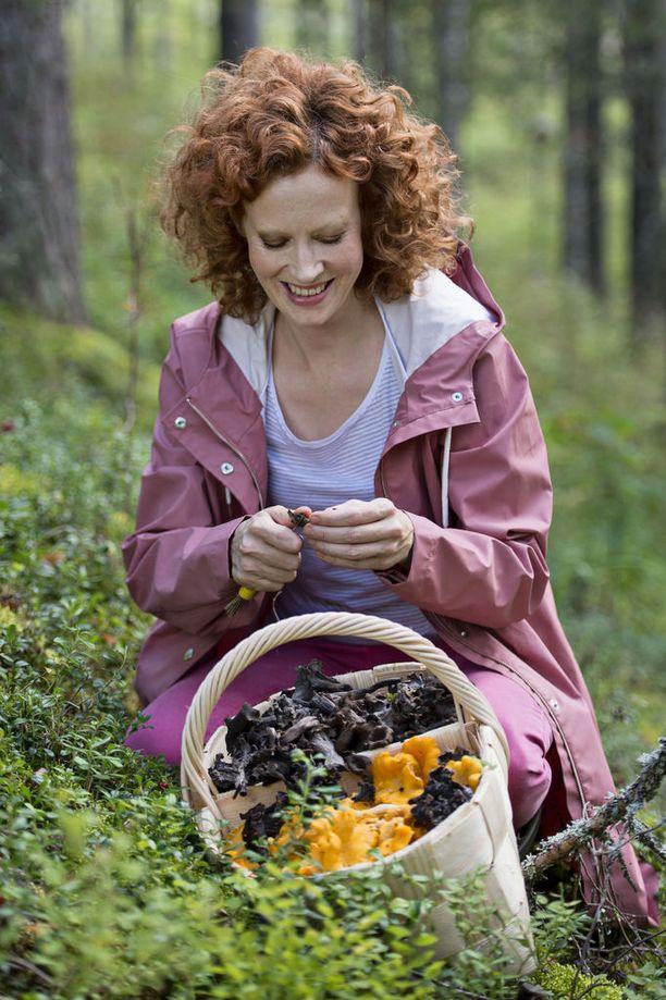 Saimi Hoyer tunnetaan innokkaana sienestäjänä.