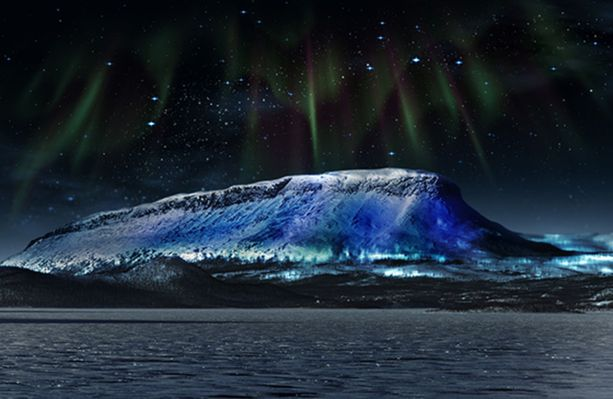 Saanatunturi valaistaan 4.-5. joulukuuta. Luonnoskuva.