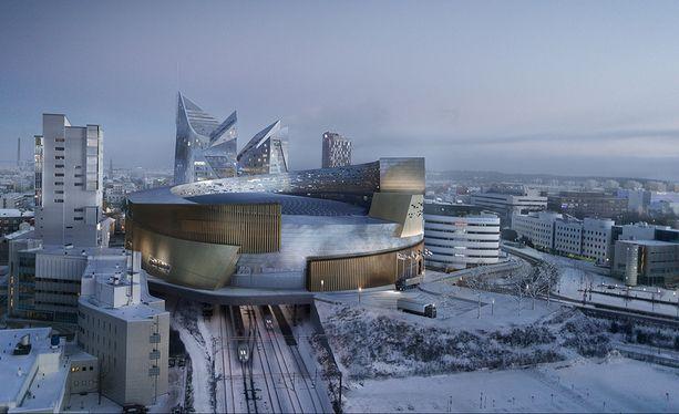 Tampereelle pitkään puuhattu monitoimiareena lienee toinen vuoden 2022 MM-kotihalleista.