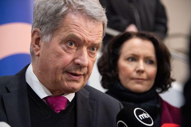 Tasavallan presidentti Sauli Niinistö ja rouva Jenni Haukio onnittelivat maailmanmestareita.