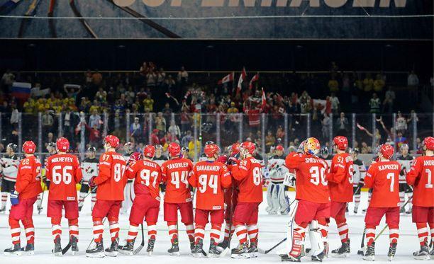 Venäjän joukkueen MM-turnaus päättyi puolivälieriin.