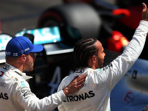Bottas on ollut kuluvalla F1-kaudella jatkuvasti Hamiltonin rinnalla.