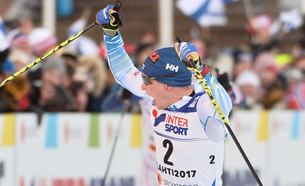 Matti Heikkinen tuuletti villisti pronssisijaa maalissa.