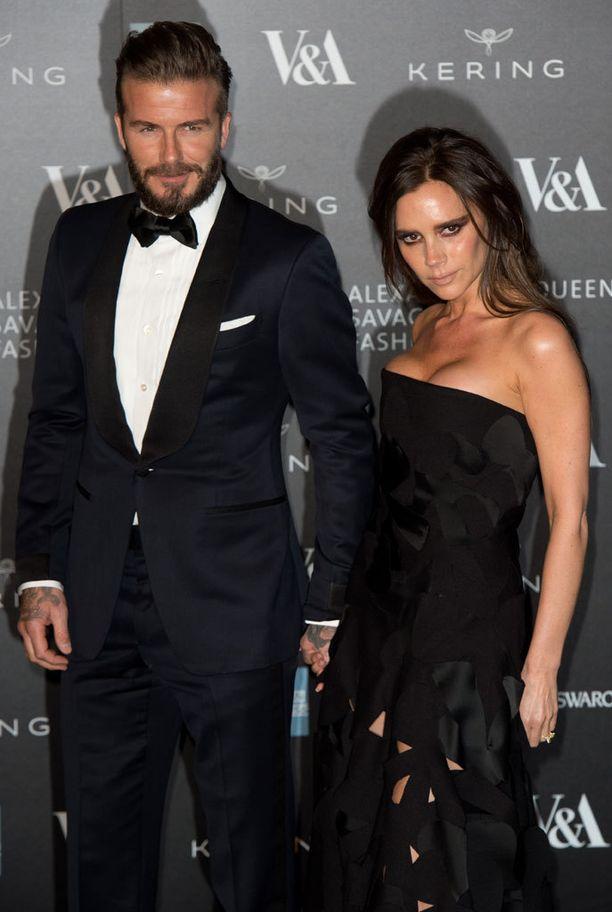David ja Victoria Beckham osallistuivat torstaina muotigaalaan Lontoossa.