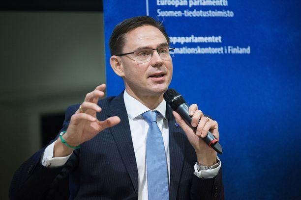 Jyrki Katainen on toiminut Euroopan komission varapuheenjohtajana. Katainen ei ole enää ehdolla.