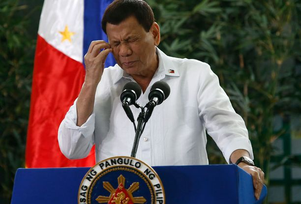 Presidentti Duterte on taas päässyt otsikoihin puheidensa takia.