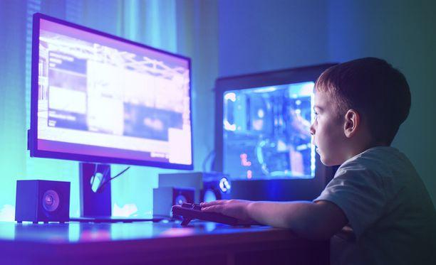 Myös verkosta löytyy lapsille ohjattua tekemistä. Kuvituskuva.
