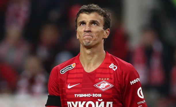 Roman Eremenko pelasi Spartakissa vain pari kuukautta.