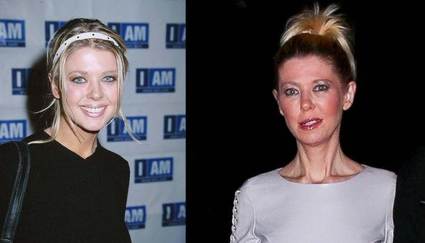 Tara Reid vuosina 2000 ja 2019.