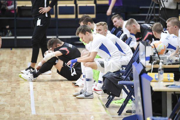 Suomen futsalmaajoukkue taistelee pääsystä EM-turnaukseen. Kuva joulukuulta 2020.