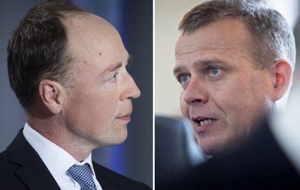 Jussi Halla-aho (ps) ja Petteri Orpo (kok) kohtasivat maanantaina Ylen A-studiossa.