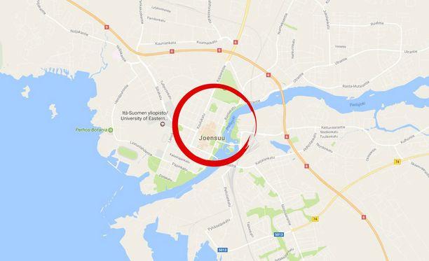 Epäilty pahoinpitely tapahtui Joensuun keskustassa sijaitsevassa Centrum-kauppakeskuksessa.