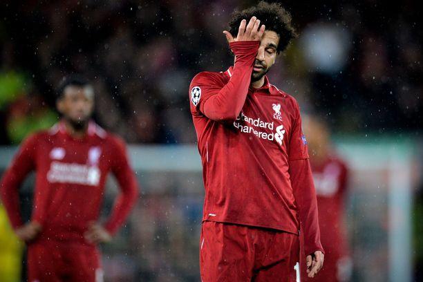 Liverpool-tähti Mohamed Salah harmitteli tilanteiden kuivumista Anfieldilla.
