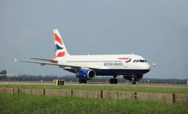 Lontoosta Geneveen matkalla olleessa British Airwaysin koneessa oli 132 matkustajaa ja viisi henkilökunnan jäsentä. Kuvituskuva.