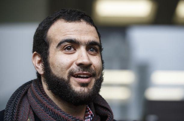 Entinen Guantanamon vanki Omar Khadr maanantaina 25.3.2019. Uutistoimisto Reutersin mukaan Khadrin toinen silmä sokeutui ammuskelun seurauksena Afganistanissa.