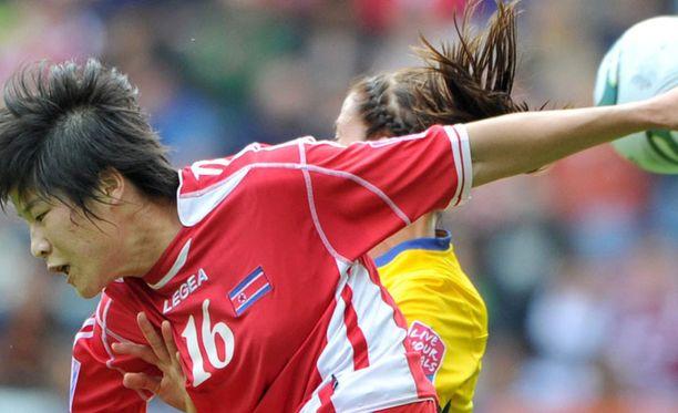 Pohjois-Korean naisten jalkapallomaajoukkue pelasi naisten MM-kisoissa Saksassa.