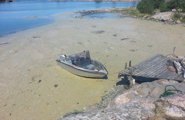 Näin hurjalta Rydbergin mökkiranta näytti tiistaina Hiittisten saaristossa.