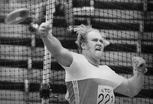 Ari Huumonen yleisurheilun MM-kisoissa vuonna 1983.