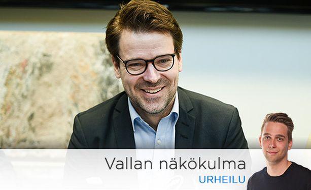 Ville Niinistö korosti Palloliiton puheenjohtajatentissä jalkapallon potentiaalia yhteiskunnallisena toimijana.
