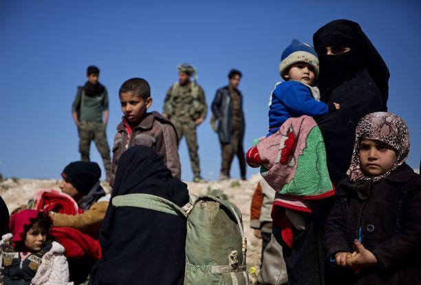 Siirtolaisia kuvattuna Kaakkois-Syyriassa aiemmin tänä vuonna.