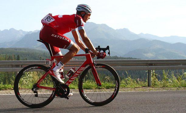 Maksim Belkov tuli yllätetyksi kesken Espanjan ympäriajon 12. etapin.
