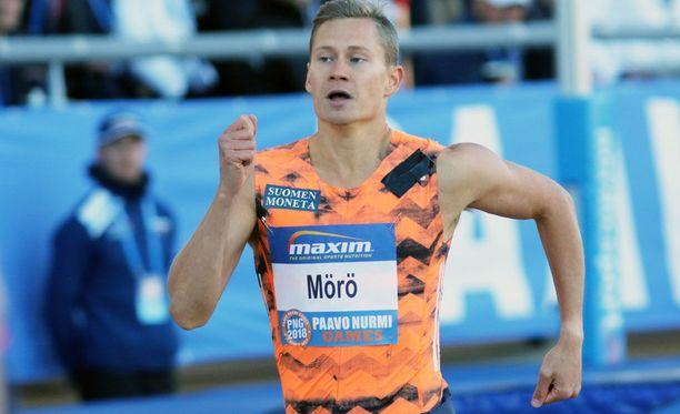 Oskari Mörö nähtiin edellisen kerran kilparadalla Paavo Nurmi Gamesissa.