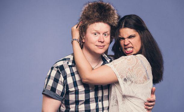 Sampo ja Michelle Kaulanen tutustuivat toisiinsa aikoinaan Hjalliksen Diili-ohjelman kuvauksissa.