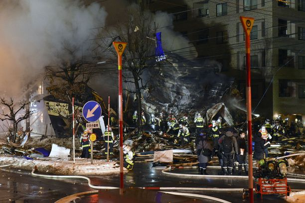 Räjähdys tuhosi ravintolan lisäksi muitakin rakennuksia.