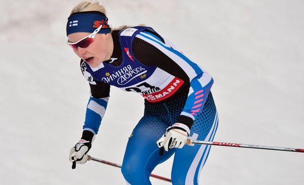 Anne Kyllönen oli Suomen toinen edustaja naisten parisprintissä.