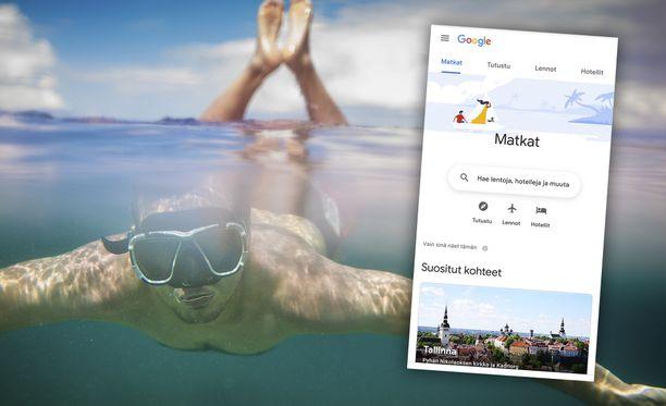 Googlea voi käyttää apuna lomien suunnittelemisessa.