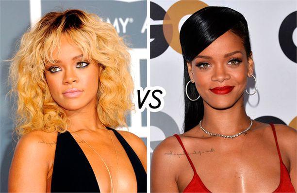 Rihannan muotivalinnat pääsevät harva se päivä otsikoihin. Tässä laulajan tyylinäyte kampauksista. Kumpi sinusta sopii tähdelle paremmin?