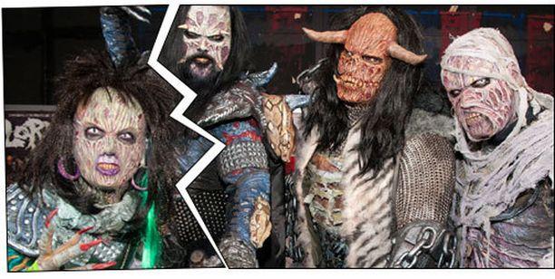 Lordin pitkäaikainen kosketinsoittaja Awa (vas.) ei esiinny bändin kanssa enää elokuun jälkeen.