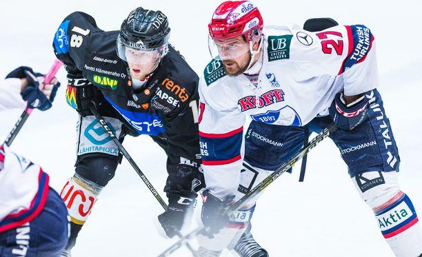 Juha-Pekka Haataja tulitti HIFK:n ainoan maalin eilen.