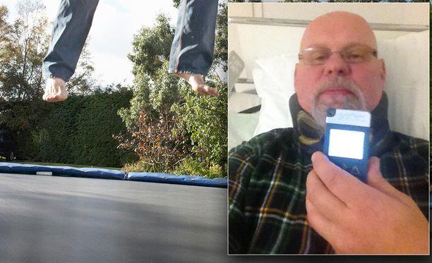 Syksyllä 2013 Kari Suominen makasi trampoliiniturman jäljiltä sairaalassa. Näin voi käydä melkeinpä kenelle tahansa, hän sanoo.