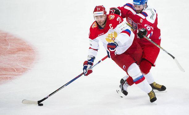 Ilja Kovaltshuk on yksi Venäjän jääkiekkomaajoukkueen suurimmista tähtipelaajista.