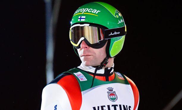 Janne Ahonen vastasi Suomen joukkueen pisimmästä hypystä.