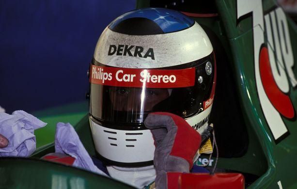 Michael Schumacher Jordan 191-auton ratissa Belgian varikolla 1991.