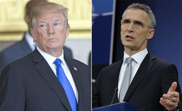 Kuvassa Yhdysvaltojen presidentti Donald Trump ja Naton pääsihteeri Jens Stoltenberg.