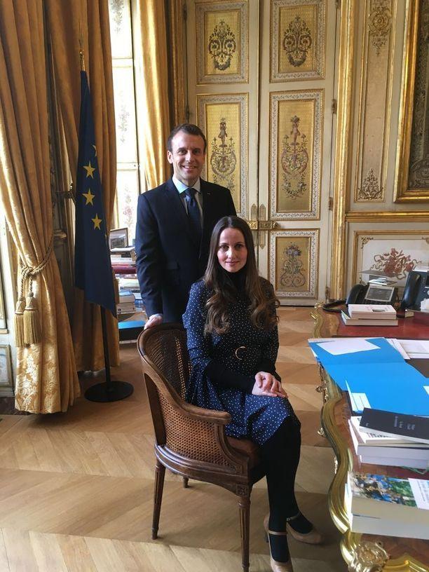 Sherin Khankan on tavannut Ranskan presidentin Emmanuel Macronin kaksi kertaa. Edellisen kerran keskiviikkona juuri ennen Macronin Suomen-vierailua.