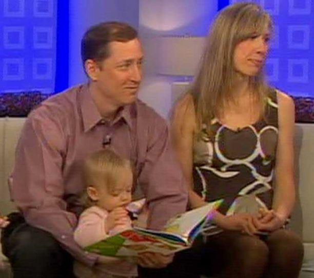 Tyttö esiintyi toissailtana jopa MSNBC-kanavan Today Showssa äitinsä ja isänsä kanssa.