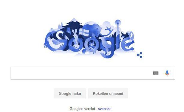Hakukone Google juhlistaa Suomen satavuotista itsenäisyyttä uudella doodlellaan eli logomuunnoksellaan.