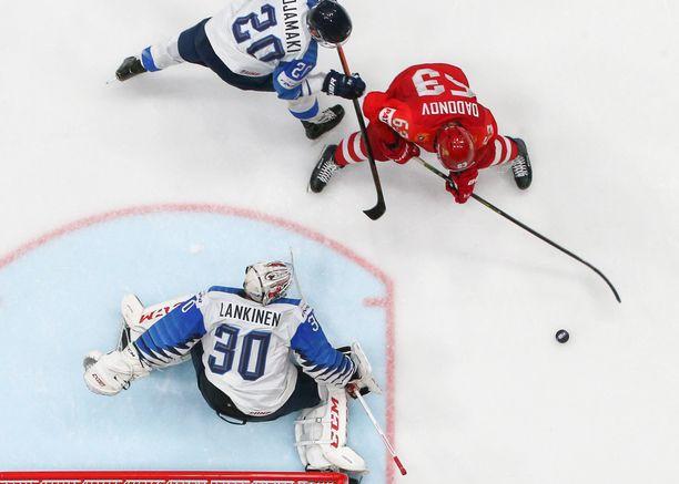 Kevin Lankinen nollasi MM-välierässä Venäjän supertähdet.