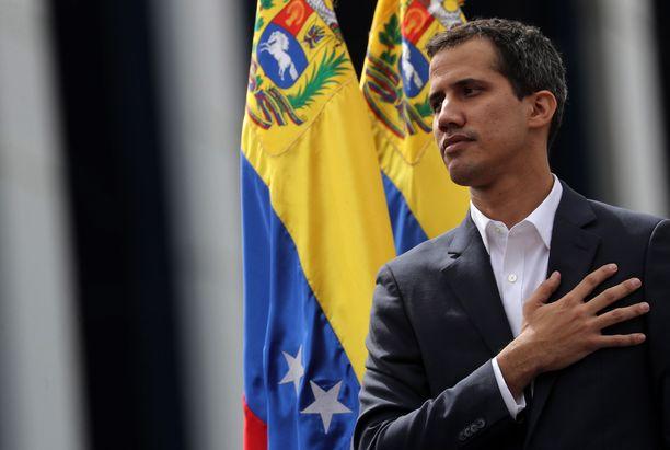 Juan Guaidó, 35, julistautui Venezuelan presidentiksi viime viikon keskiviikkona Caracasissa.
