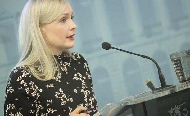 Maria Ohisalo kehui vihreiden budjettiriihessä saavuttamia ilmastolinjauksia.