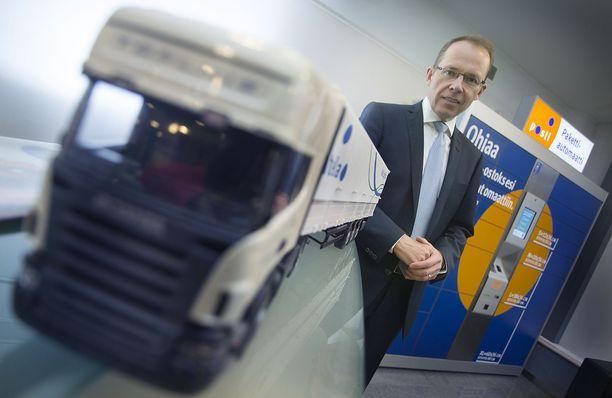 Itellan eli nykyisen Postin toimitusjohtaja Heikki Malinen vuonna 2013.