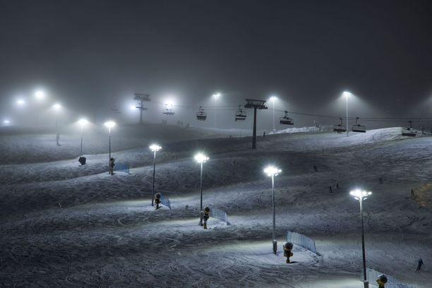 Levin hiihtokeskus on toistaiseksi auki.