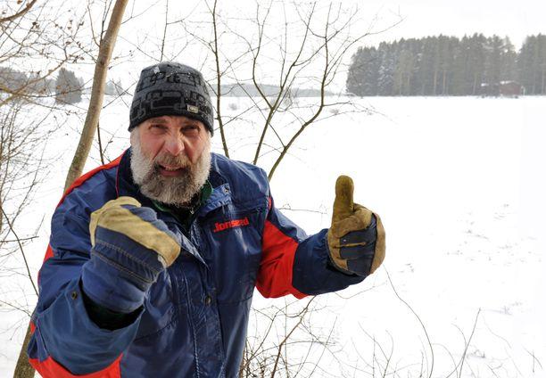 Juha Mieto kertoo, että Kurikasta löytyy kyllä seuraa moukaritreeneihin.